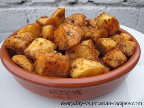 Roasted Potatoes Recipe With A Spanish Twist
